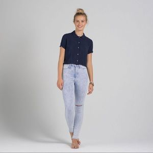 Abercrombie & Fitch natural waist jegging